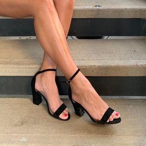 Shoes - Black & Nude Heels